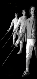 The three types of fencing weapons